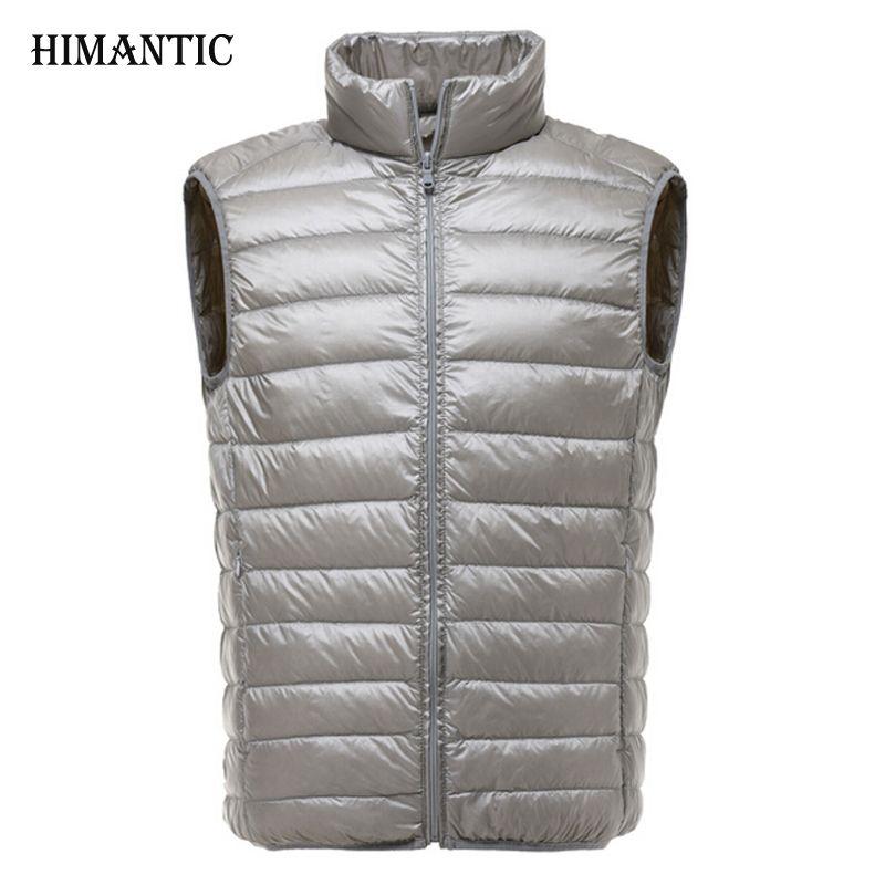 2017 Autumn Winter Ultralight Vest Men Sleeveless Jackets Male Colete Down Vests Chaleco Hombre Men's Casual Waistcoat Coats