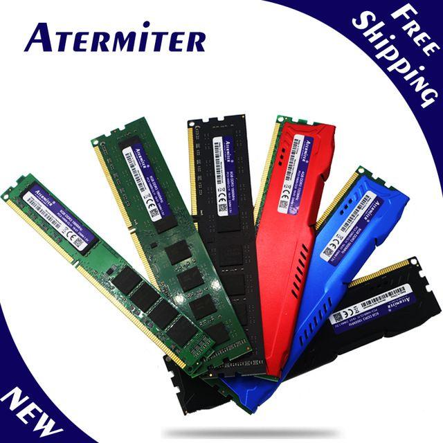 Nouveau 8 GB DDR3 PC3-10600 1333 MHz pour ordinateur de bureau DIMM mémoire RAM 240 broches (pour intel amd) système entièrement compatible haut radiateur