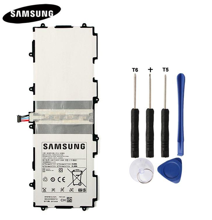 Genuine Original Tablet Battery SP3676B1A For Samsung Galaxy Note <font><b>10.1</b></font> GT-N8000 N8010 N8013 N8020 P7500 GT-P7510 P5100 7000mAh
