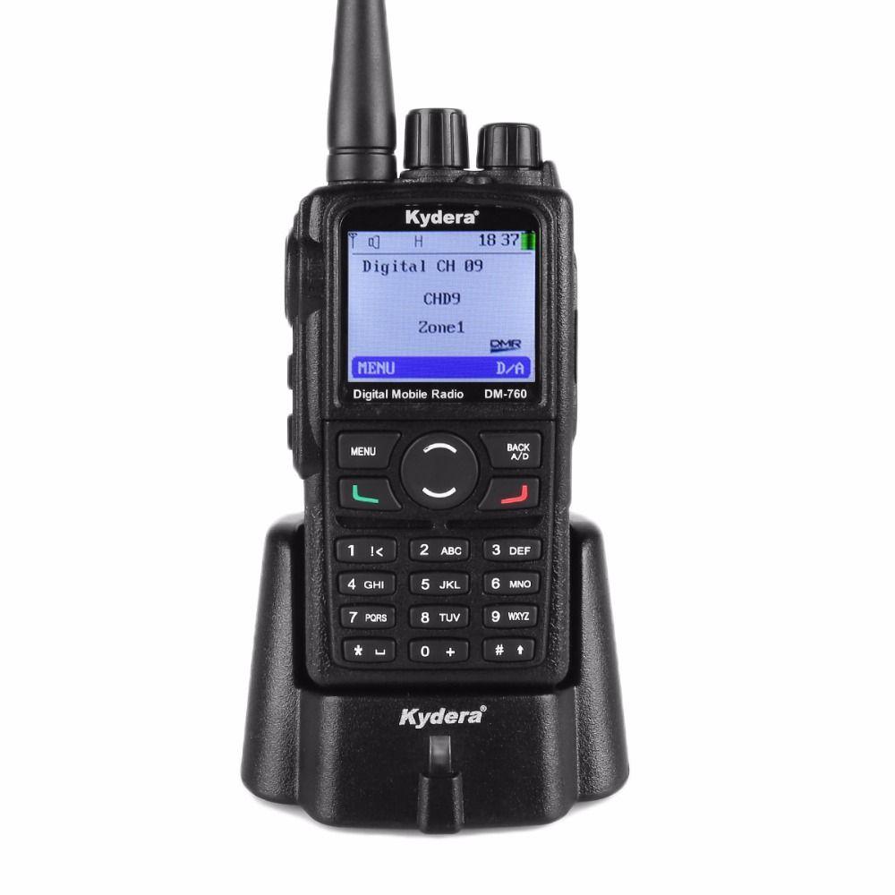 Kydera DM-760 DMR Digital Radio 400-480MHz 2000mAh UHF Two Way Radio Walkie Talkie Ham Transceiver 5W Compatible With Motorola