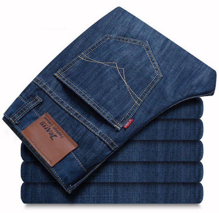 Бесплатная доставка новых горячих мужская одежда осень случайные джинсы мужские длинные брюки прямые хлопок мужские джинсы мужские Размер...