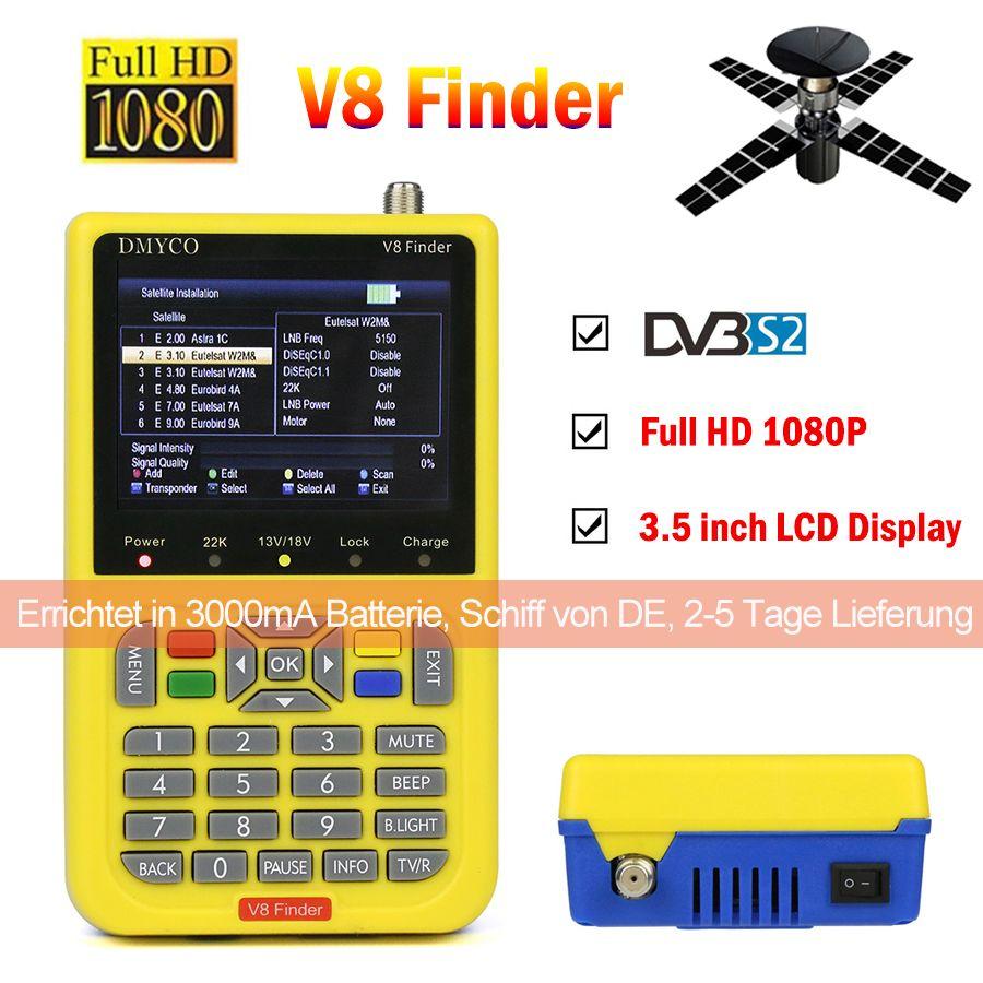 V8 Finder HD satfinder DVB-S2 High Definition Satellite Finder MPEG-4 DVB S2 Satellite Meter Full 1080P V8 Finder lnb sat finder