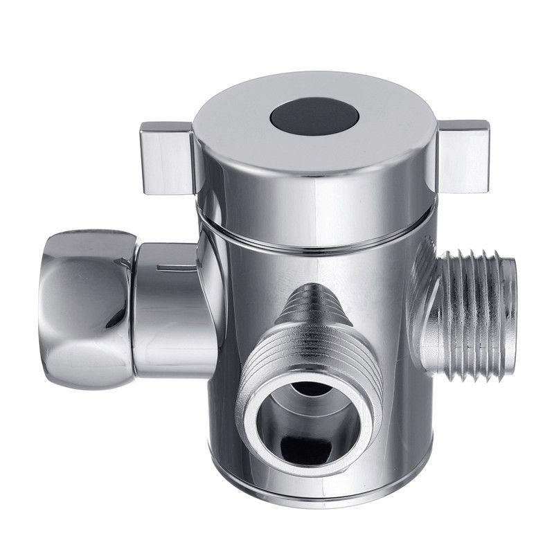 3 Way T-anschluss Duschkopf Umschaltventil G1/2 Drei Kopf Funktionsschalter Adapter Ventil Für Wc Bidet Dusche