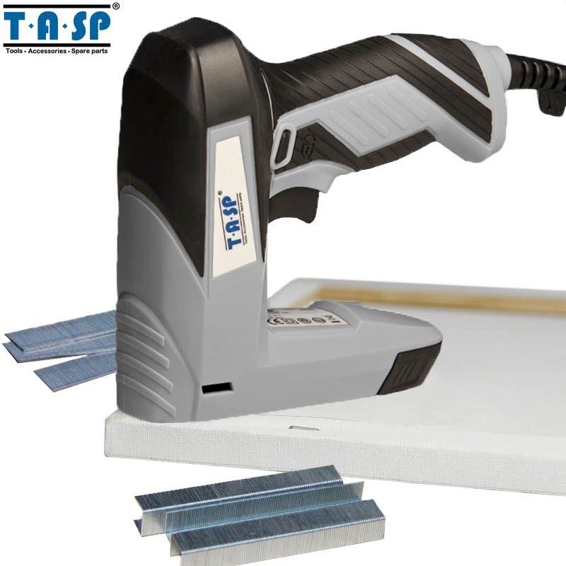 TASP MESG45 220V 45W Electric Stapler Staple Nail Gun Wood Tacker Power Tools for Frame Woodworking