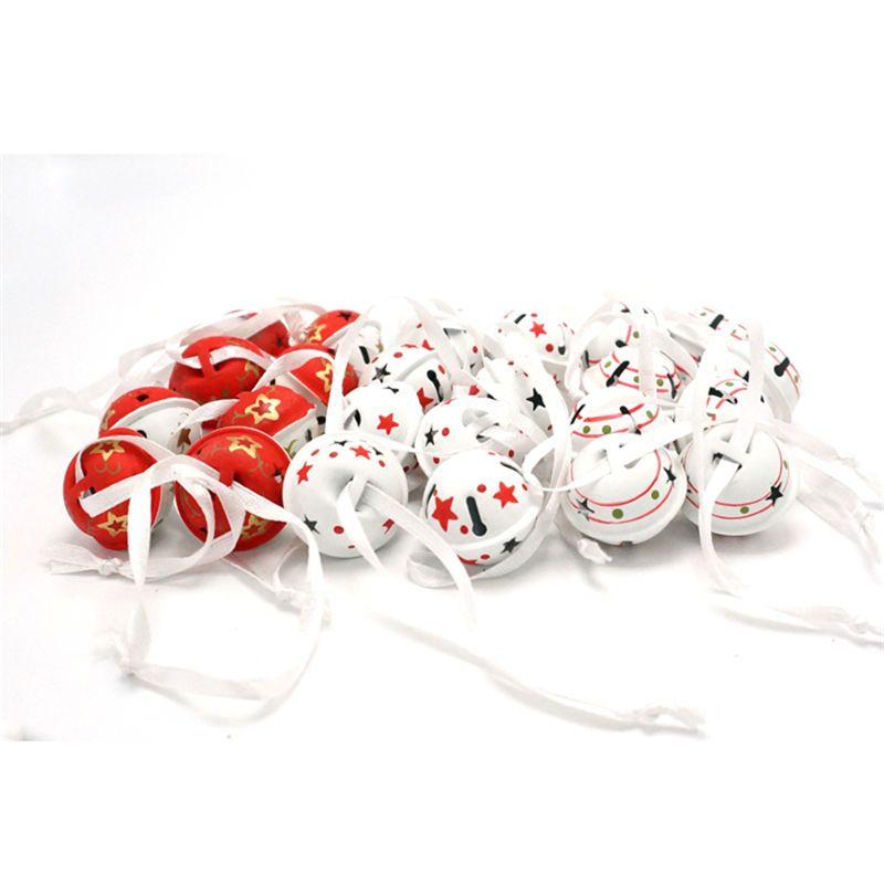 Décoration de noël 24 pcs Cloches en métal 25mm 3 types De Noël petite cloche arbre décoration de noël parti décor De Noël cadeau pendentif