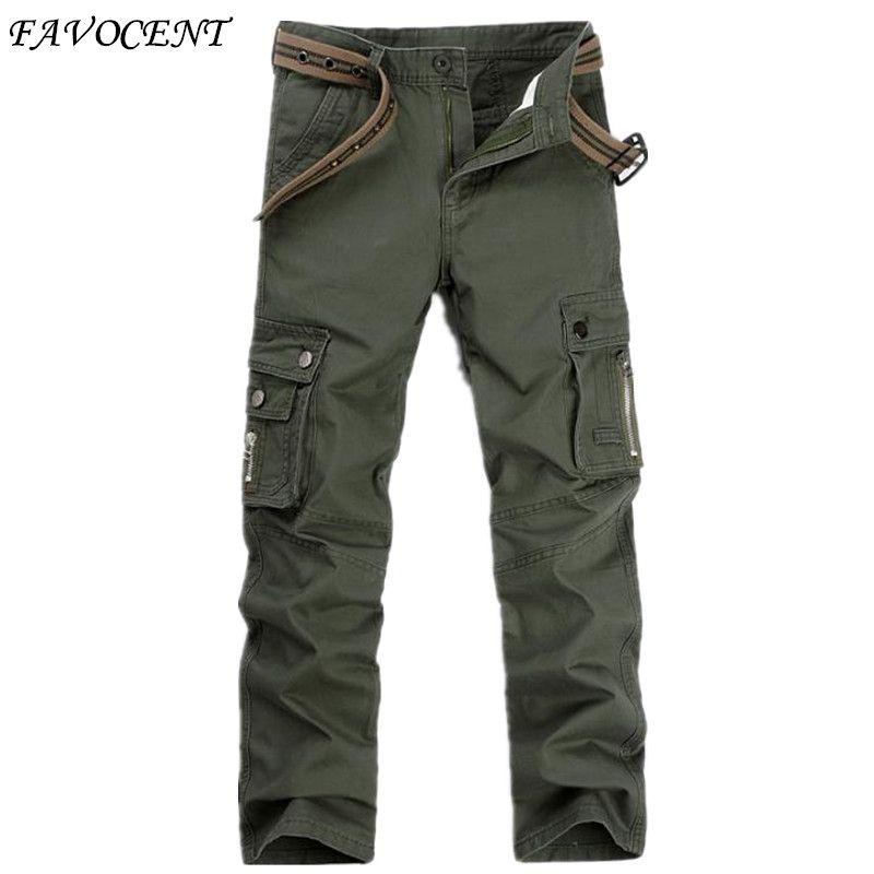 2017 Recién Llegado de Pantalones Cargo de Los Hombres Del Ejército Militar de Múltiples bolsillo del Mens Casual Pantalones Pantalón de Trabajo Completo 28-42 tactical cargo pantalones