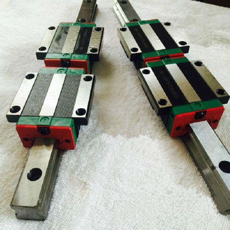 Real Cnc Router Cnc Kit Linear Guide Rail 20mm Linear Rail Guides HB20-1700mm 2pcs + Flange Block Hbw20cc 4pcs