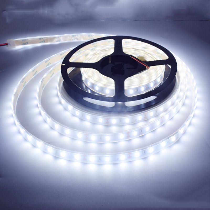SPLEVISI silicone Tube forme 5 m 300 LED 12 V 5050 LED bande 60 LED/m IP67 LED étanche ruban ruban RGB blanc froid blanc chaud bleu