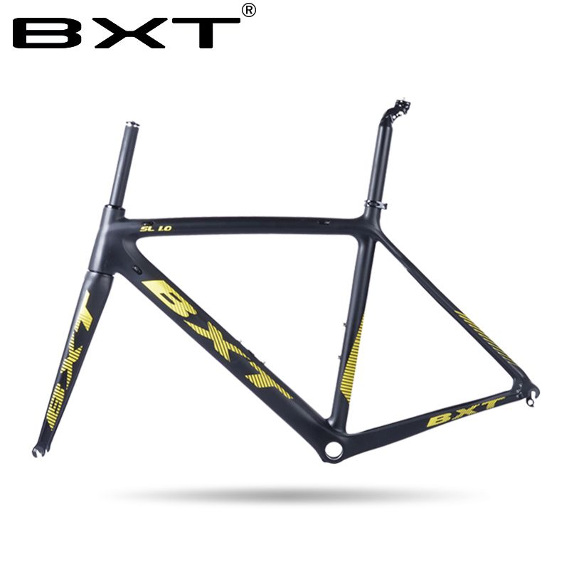 2018 Chinese Cheap carbon road bike frame Size:500/530/550mm Super Light road carbon frameset with fork racing bicycle frame