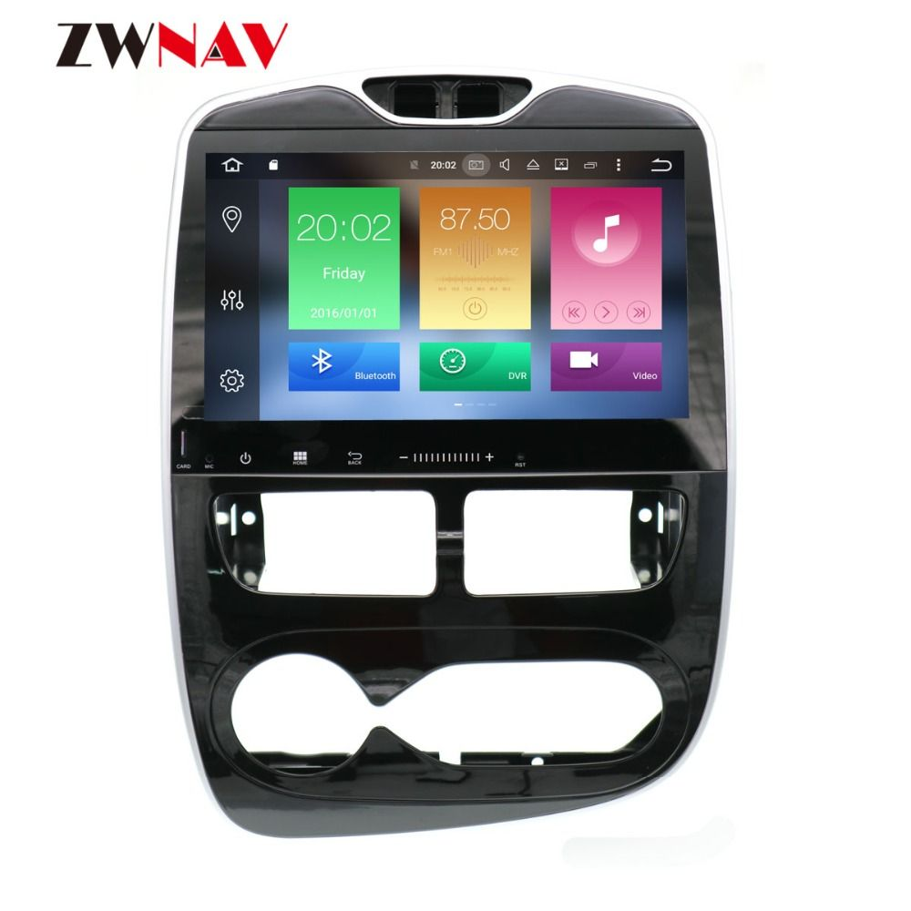 Android 8.1 IPS Screen Radio No DVD Player Car GPS Navigation For Renault Clio 2013 2014 2015 2016 2017 2018 Free Map and Camera