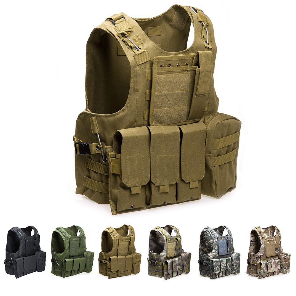 Outlife USMC Airsoft CS Military Tactical Vest Molle Combat Assault Plate Carrier Tactical Vest Outdoor Clothing Hunting Vest