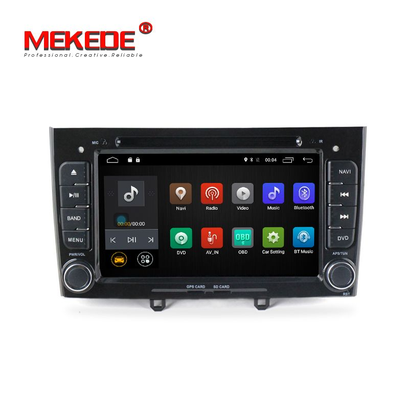 free shipping 2G RAM Multimedia Car dvd Player For Peugeot 308 408 with wifi radio GPS BT Android 7.1 Quad core
