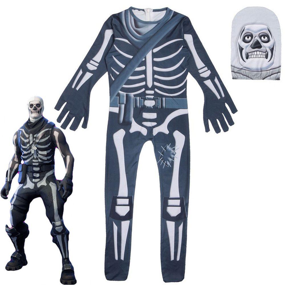 Flytrap Skin Decoration Ninjago Clown Boy Cosplay Clothes Halloween Costume Battle Royale Party Funny Kid Clothing Skull Trooper
