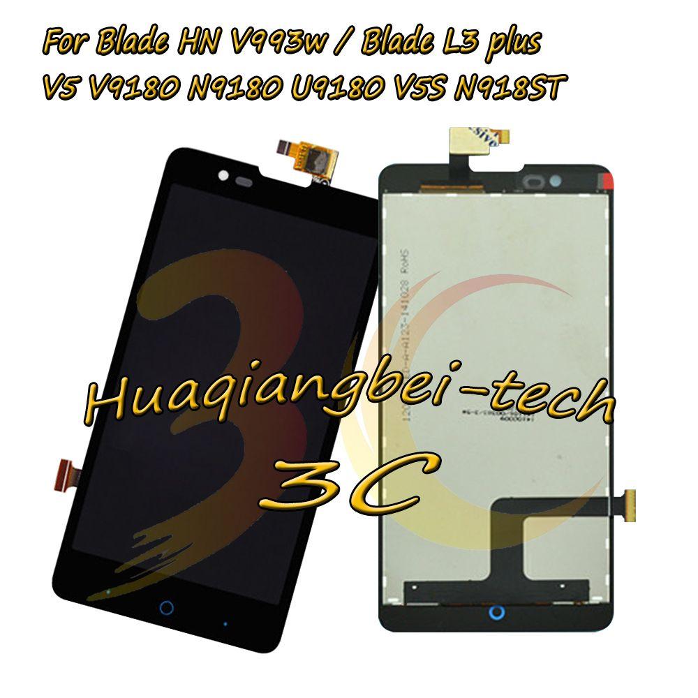 Nouveau Pour ZTE Lame HN V993w/Lame L3 plus/V5 V9180 N9180 U9180 V5S N918ST LCD Full Affichage + Écran tactile Digitizer Assemblée
