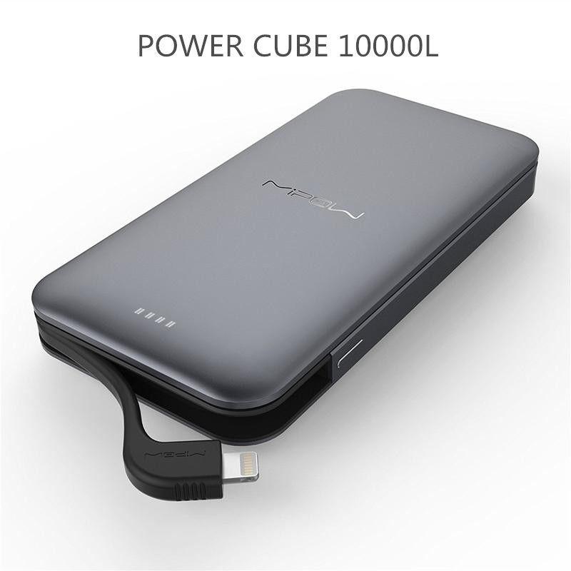 Mipow 10000 mAh Energienbank 3A Schnellladung Mit MFi Zertifiziert Stecker ultradünne Polymer Metalllegierung energienbank Für iPhone 7 8 X