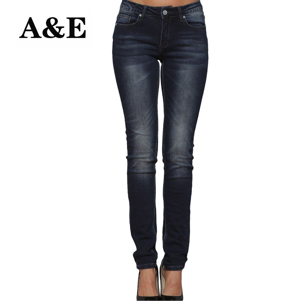 Alice & Elmer Skinny Women Jeans Shortened Woman Jeans For Girls Stretch Mid Waist Jeans Female Pants