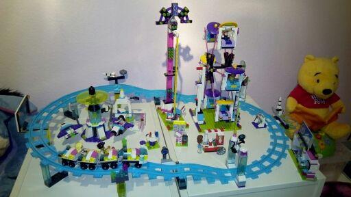 Modèle kits de construction compatible avec lego ville filles ami Amusement Parc 3D blocs modèle Éducatif bâtiment jouets 01008