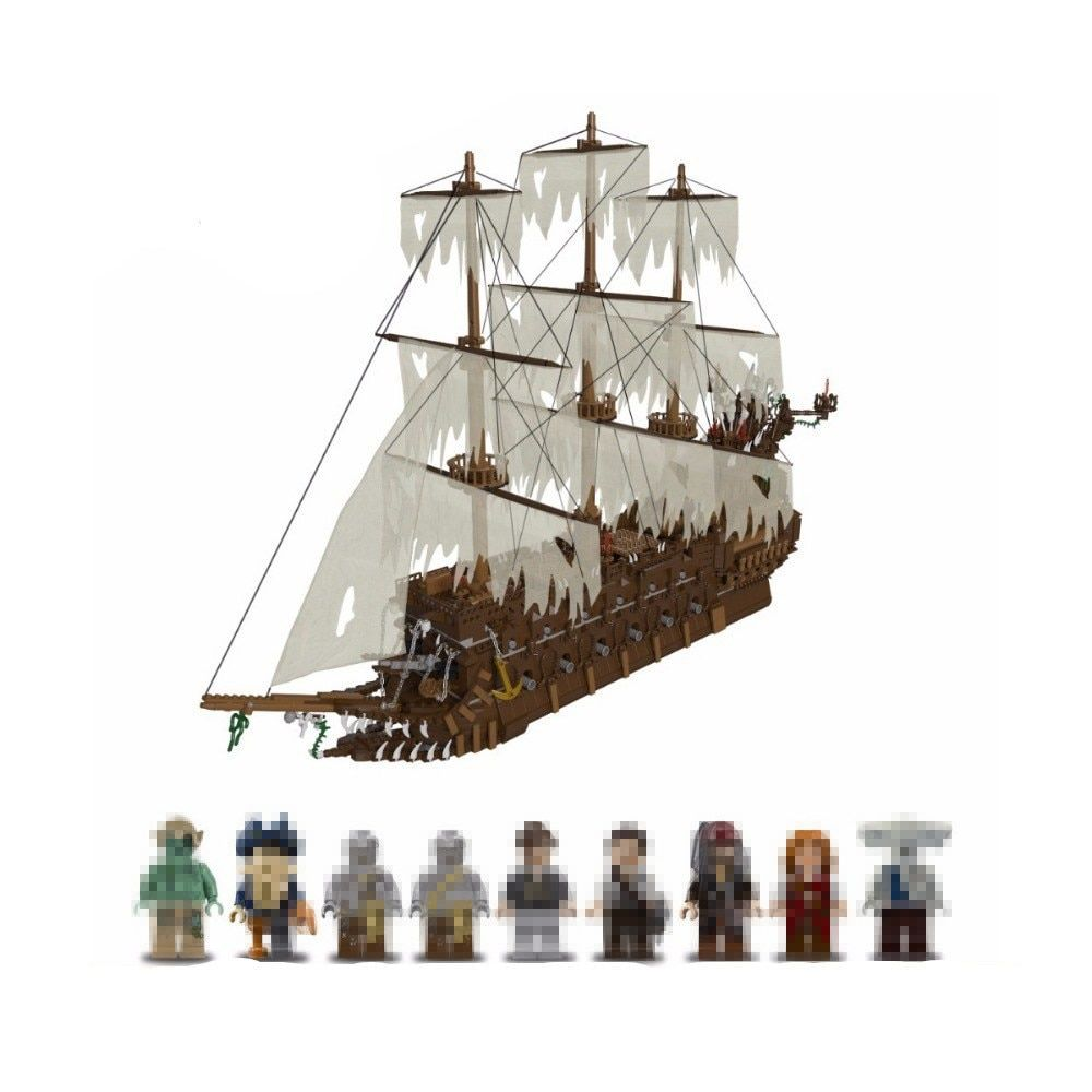 Lepin 16016 3652Pcs The Flying the Netherlands ship Building Blocks Pirates of the Caribbean Movies Series MOC Bricks boys gift