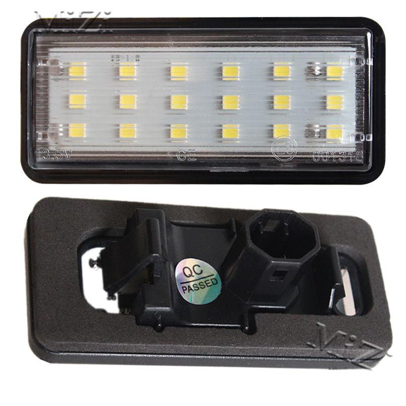 2 pièces Kit de lumière de plaque d'immatriculation numéro de LED voiture blanche pour Lexus LX470 GX470 pour Toyota Land Cruiser 120 Prado Land Cruiser 200