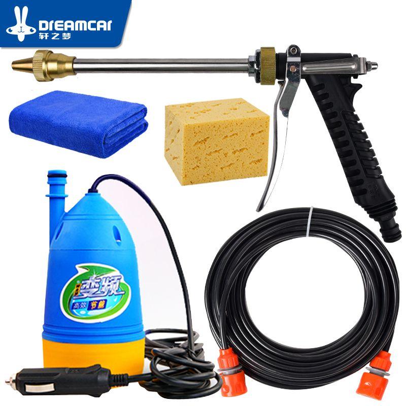 Free Shipping High  12v pressure washing gun device washing machine 12v portable  cleaning machine car washer water gun