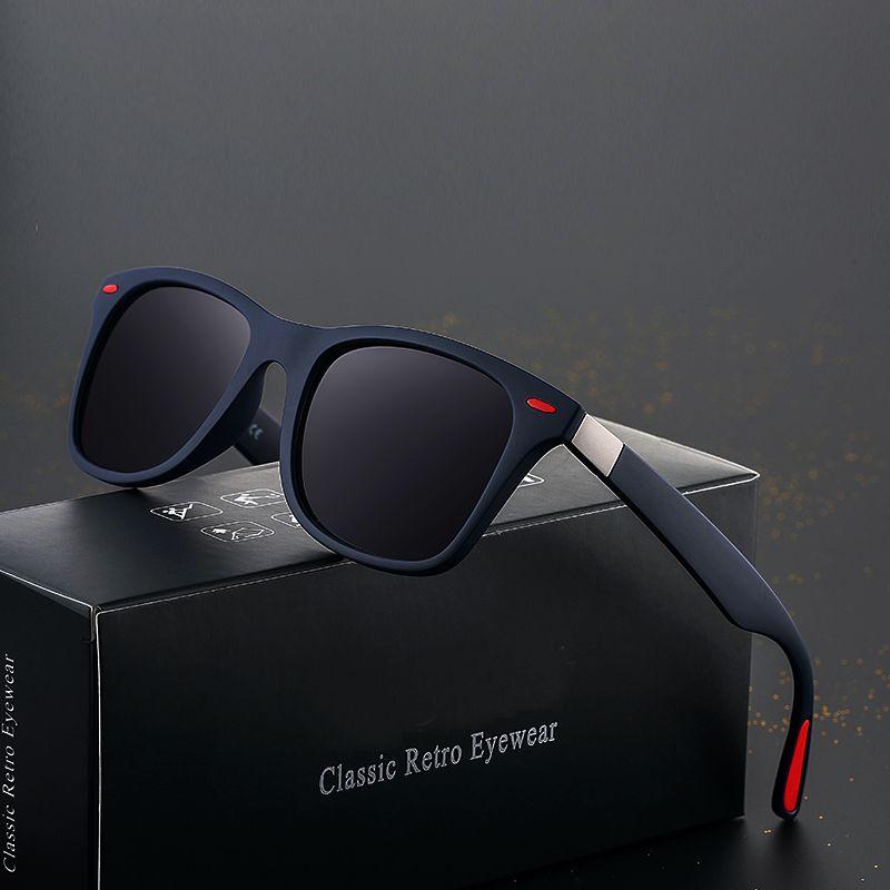 Marque DESIGN classique lunettes De soleil polarisées hommes femmes conduite carré cadre lunettes De soleil mâle lunettes UV400 Gafas De Sol