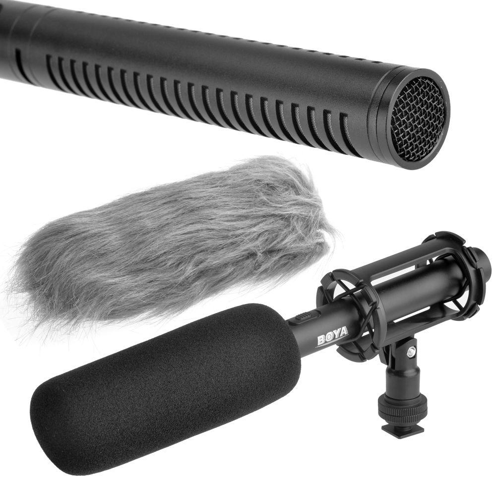 BOYA BY-PVM1000 профессиональных DSLR конденсаторный микрофон видео интервью отчетности для Canon Nikon Sony Зеркальные фотокамеры