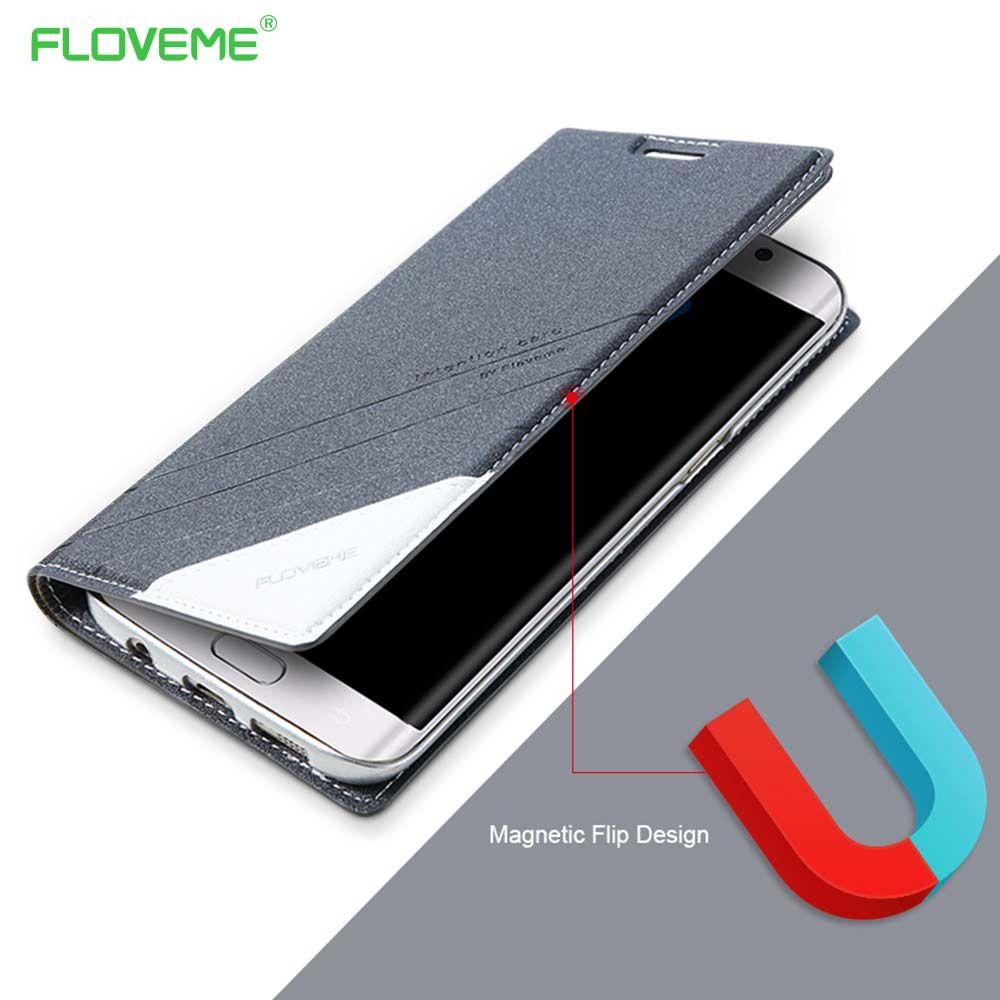 FLOVEME Magnétique D'origine Pour Samsung Galaxy S7 S6 Bord Portefeuille En Cuir Flip Housse 360 Coque Pour Galaxy S7 S6 s8 S8Plus Capa
