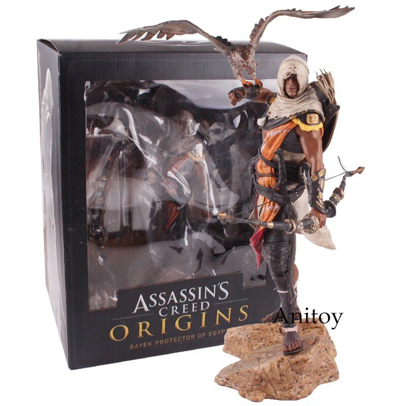Assassins Creed Assassin's Creed Origines Bayek Protecteur with his eagle PVC Action Figure Model Toy Gift 28cm