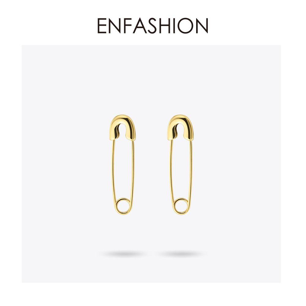 Mode broche de sécurité longues boucles d'oreilles couleur or Rose boucles d'oreilles en acier inoxydable Dangle boucles d'oreilles pour femmes bijoux Orecchini Brinco