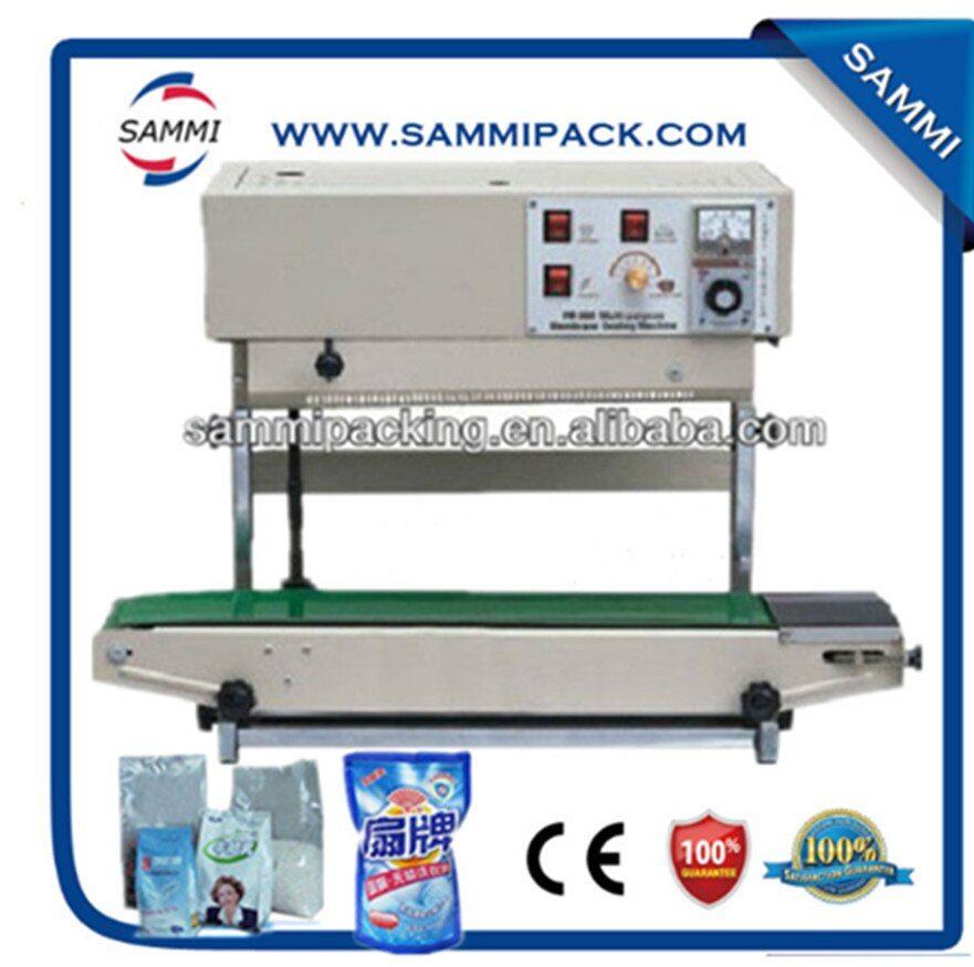 Free shipping FR-900V Vertical Continuous band sealer for all size plastic bag