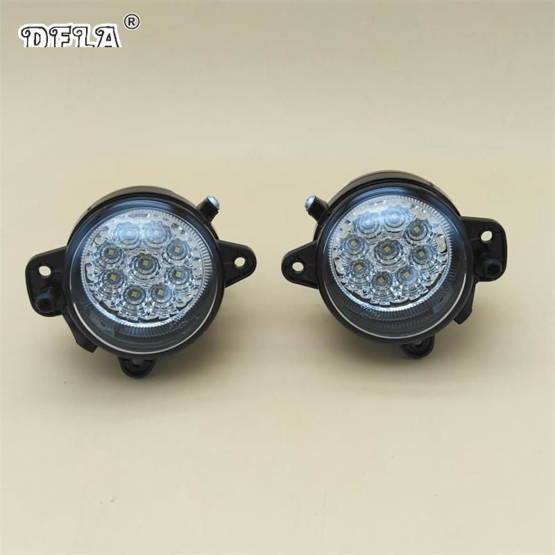 2pcs For VW Transporter Multivan Caravelle T5 2003 2004 2005 2006 2007 2008 2009 2010 Car Styling 9 LED DRL Fog Light Fog Lamp