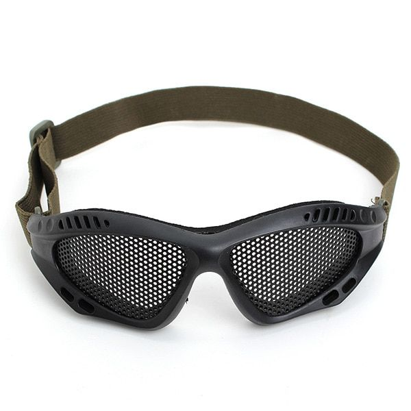 Airsoft Outdoor Tactical Goggles Mask Safety Protect Glasses Metal Mesh Eyewear Security Protection Supplies Safety Goggles