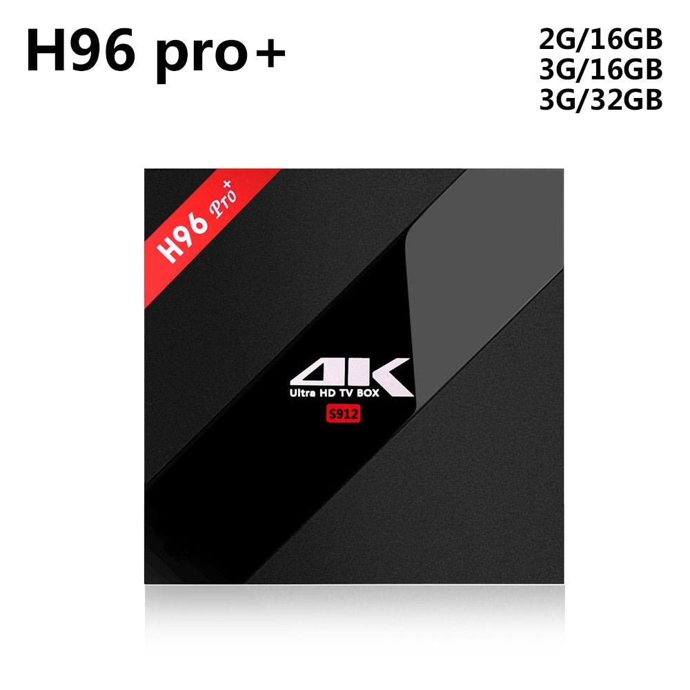 H96 Pro Plus + Amlogic S912 Octa Core Android 7.1 TV Box 3GB 32GB 4K HD Media Player 2.4G/5GHz Wifi BT 4.1 Smart Set Top Box