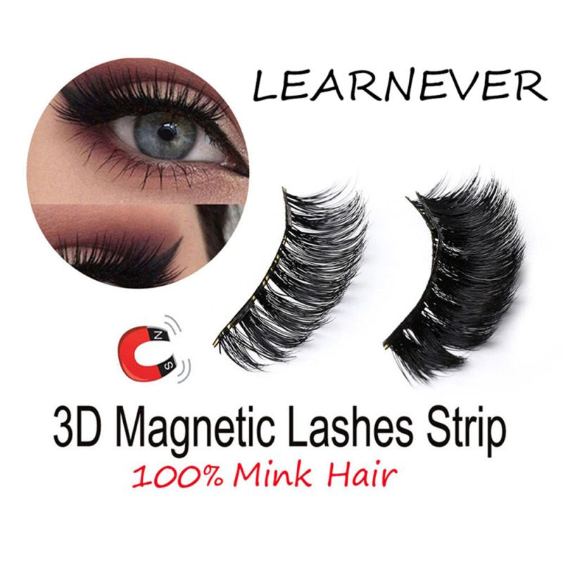4 unids/par Imán Magnético Pestañas Kit de Maquillaje Grueso de Buena Calidad 3d Pestañas Falsas Mink Magnética Dropship