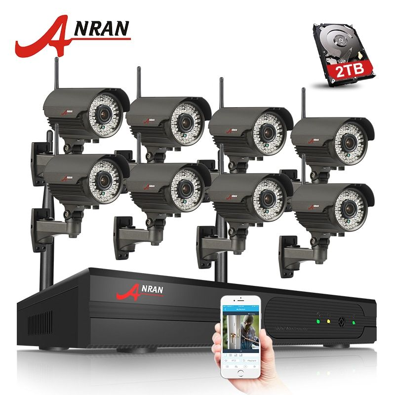 ANRAN Plug And Play 960P HD Varifocal 2.8mm-12mm Outdoor IR Security IP Camera WIFI 8CH H.265 NVR Wireless CCTV System