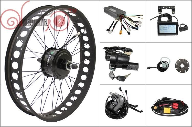 Free Shipping 48V 750W Bafang Freehub Cassette Fat Tire Rear Motor Wheel Electric Bicycle Ebike Conversion Kits 175mm 190mm