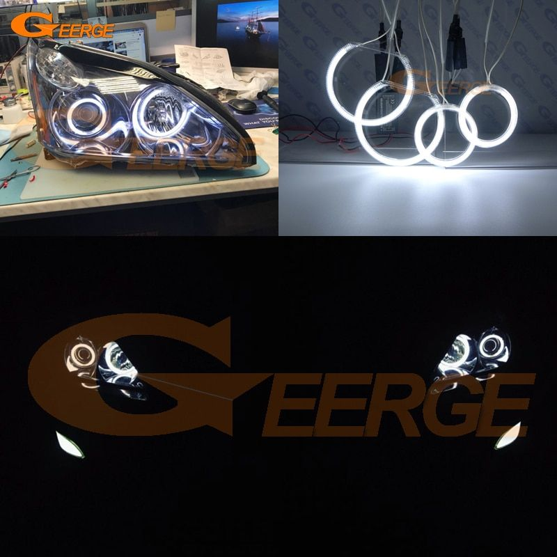 For LEXUS RX300 RX330 RX350 RX400h 2004 2005 2006 2007 2008 Excellent angel eyes Ultra bright illumination CCFL Angel Eyes kit