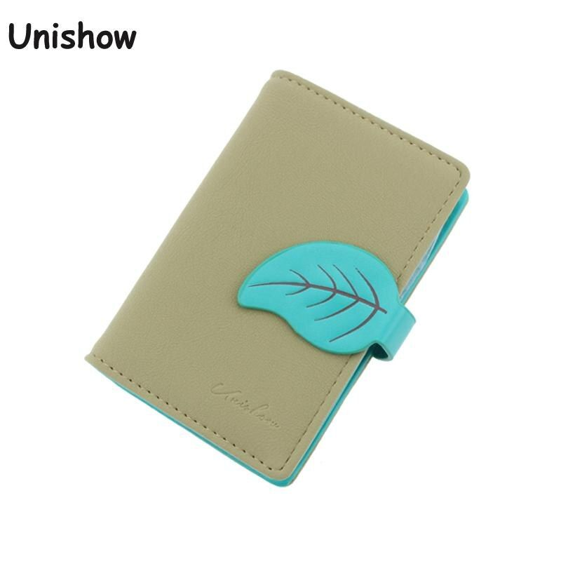 New arrvial Fashion Maple Leaf card holder brand Matter Pu leather ID holder girl credid card wallet