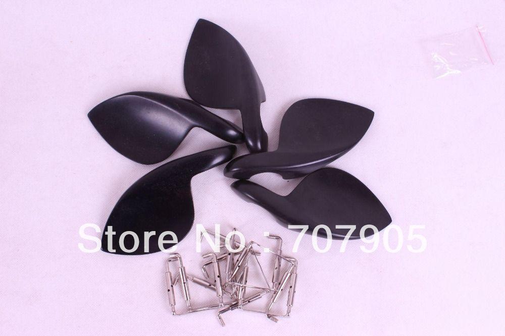 left violin chinrest  2  pcs  New 4/4 violin parts, ebony chinrest chinrest clamp Accessories #E18
