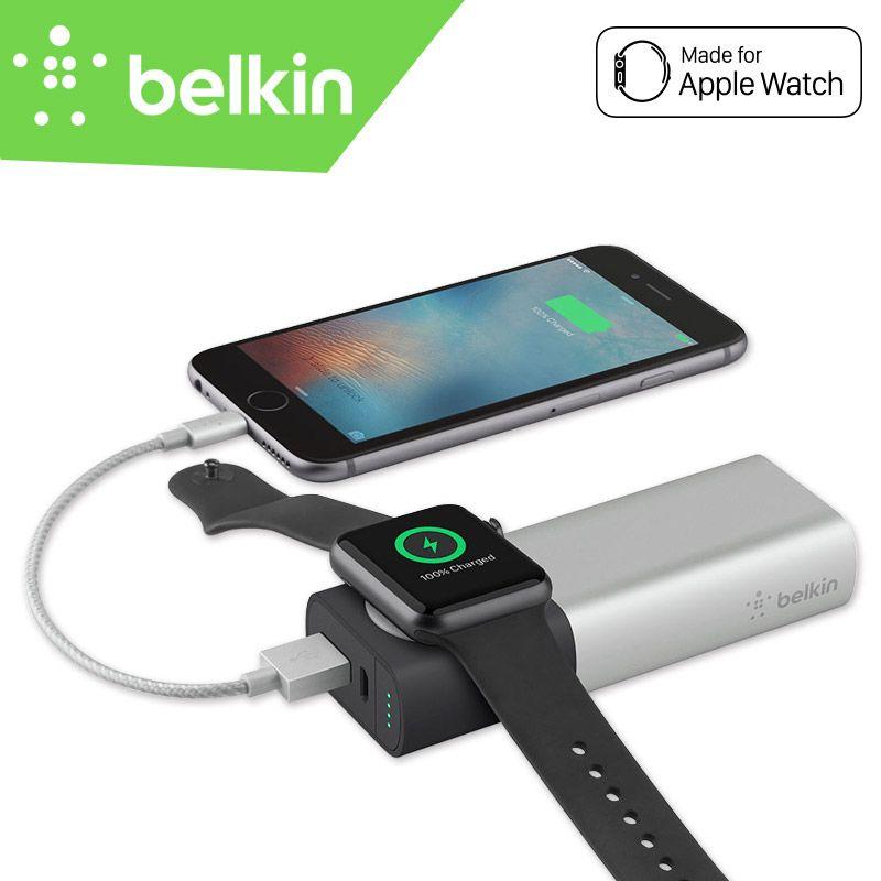 Belkin MFi Zertifizierung Externen Akku Power Bank 6700 mAh Drahtlose Ladegerät für Apple Uhr + iPhone für iPhone7 F8J201