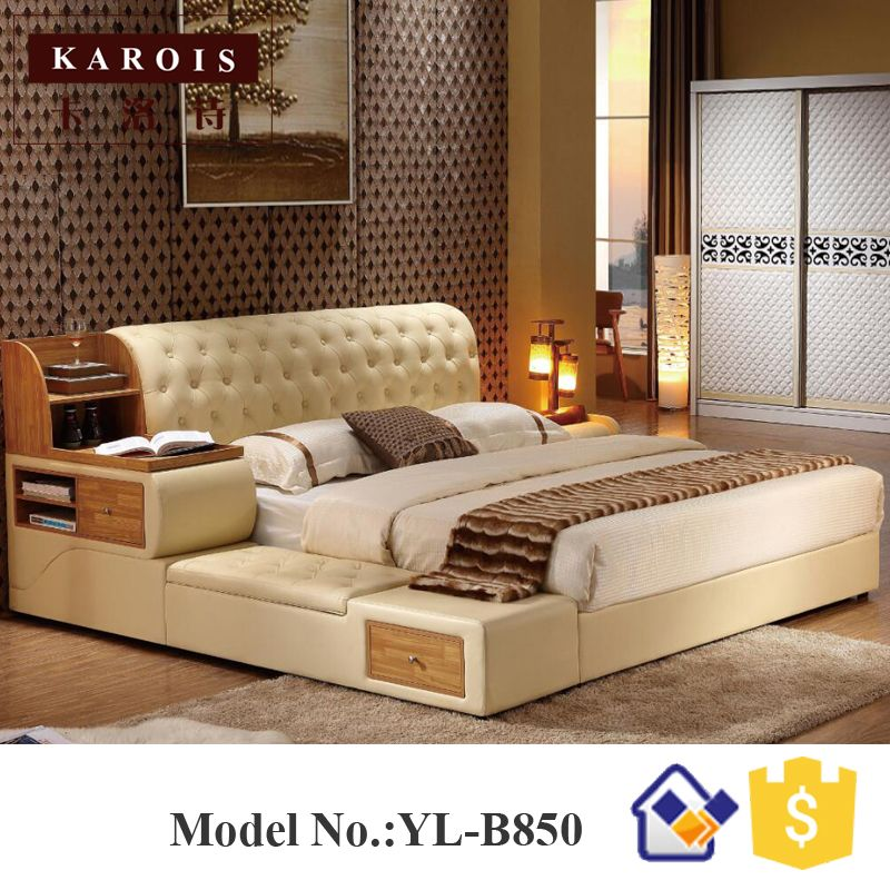 China best quality supplier ashly wooden purple bed room furniture designs