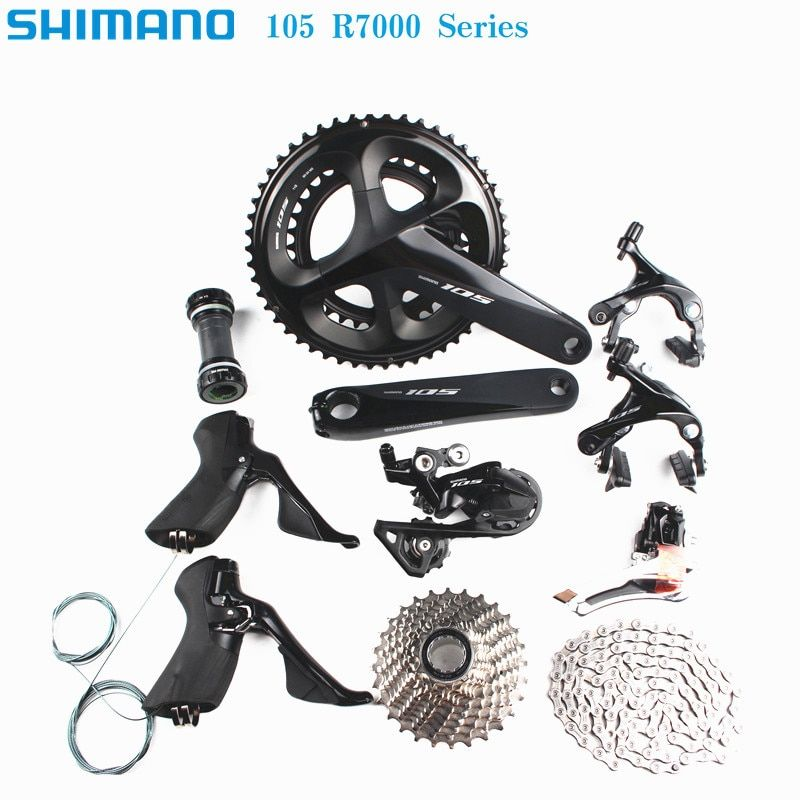SHIMANO 105 R7000 2x11 speed 170/172.5/175mm 50-34T 52-36T 53-39T road bike bicycle kit groupset upgrade from 5800
