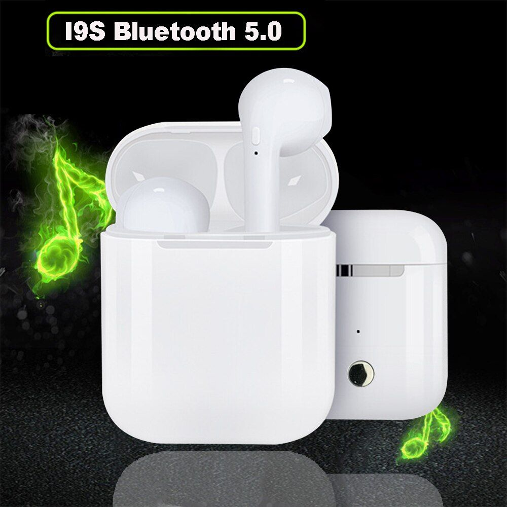 I9S TWS Earpiece Wireless Headset Wireless Earphone Portable 5.0 Bluetooth Invisible Headset Stereo Earbud For All Smart Phone