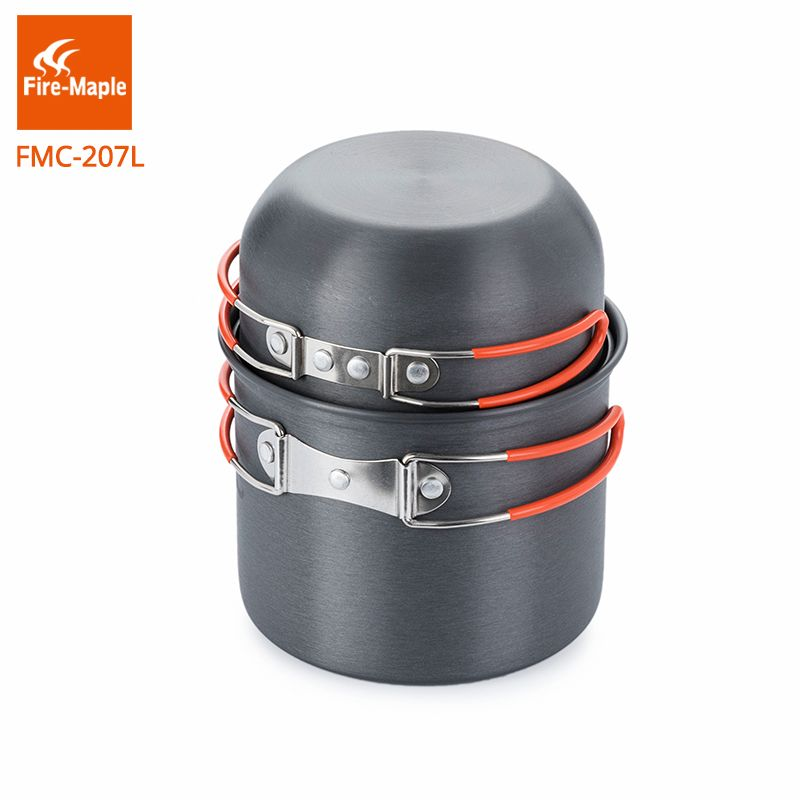 Fire-Maple Backpacking Cookware set Aluminum Alloy Pot for 1-2 Persons Light Weight 195g FMC-207L