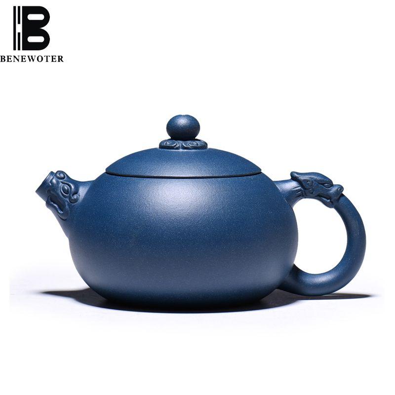 280 ml Yixing Lila Ton Teekanne Dunkelgrün Schlamm Drachen-skulptur Xi Shi Töpfe Berühmte Handgemachte Zi Sha Topf Teegeschirr Kung Fu Tee-Set