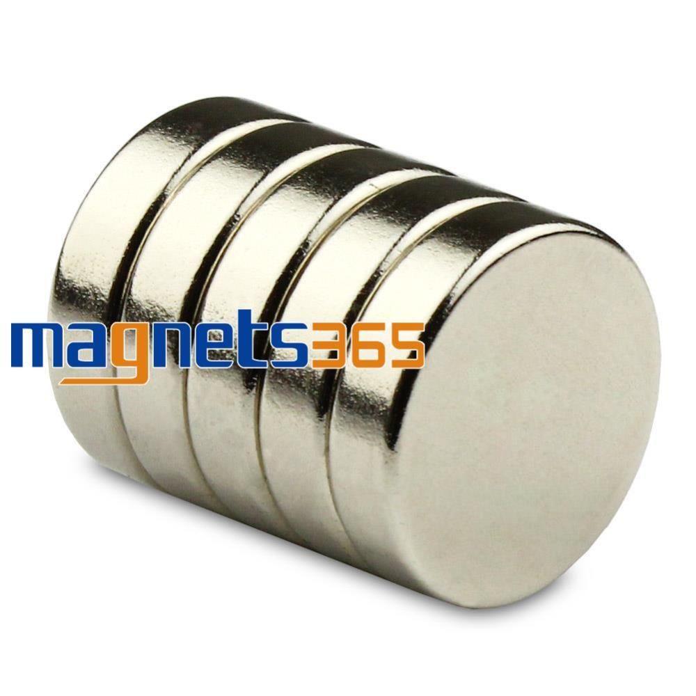 OMO Magnetics 5pcs 20mm x 3mm N50 Grade Small Disc Round Cylinder Rare Earth Neodymium Magnets