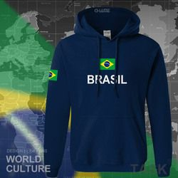 Brazil Hoodie Sweatshirt Pria Keringat Baru Streetwear 2017 Atasan Kaus Pakaian Latihan Yg Hangat Negara Bendera Brasil Brasil Bulu BR