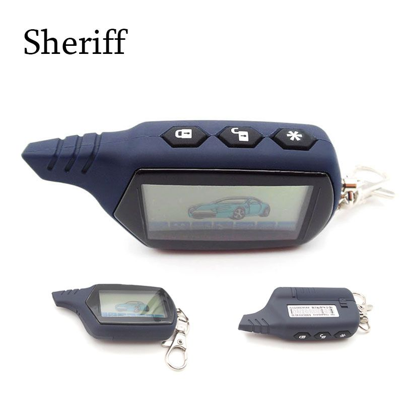 SHERIFF A91 Anti-theft System LCD Remote Controller For 2 Way Car Alarm Starline 91 Engine Starter Fob Keychain/lcd Body Remote