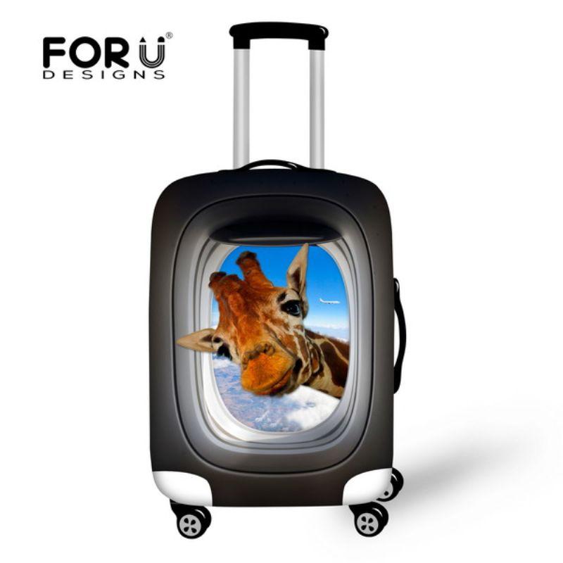 FORUDESIGNS 3D Imprimé Animal De Protection une Assurance bagages pour 18-30 Pouces Chariot housses de valise Élastique bagages de voyage Couverture Sac