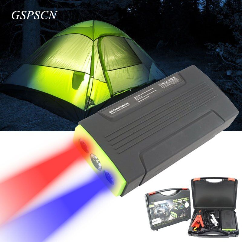 GSPSCN Emergency Battery Charger Car 68000mAh Jumper Booster Starting Multi-Function SOS flashlights Portable Toolbox